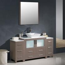 Fresca Torino (single) 59.75-Inch Gray Oak Modern Bathroom Vanity with Vessel Sink