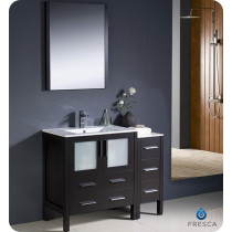 Fresca Torino (single) 42-Inch Espresso Modern Bathroom Vanity with Integrated Sink