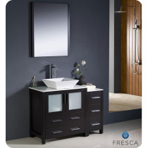 Fresca Torino (single) 42-Inch Espresso Modern Bathroom Vanity with Vessel Sink