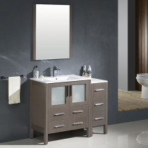 Fresca Torino (single) 42-Inch Gray Oak Modern Bathroom Vanity with Integrated Sink