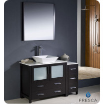 Fresca Torino (single) 47.75-Inch Espresso Modern Bathroom Vanity with Vessel Sink