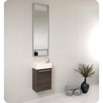 Fresca Pulito (single) 15.5-Inch Gray Oak Modern Wall-Mount Bathroom Vanity Set