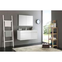 Fresca Mezzo (single) 47.3-Inch White Modern Wall-Mount Bathroom Vanity Set