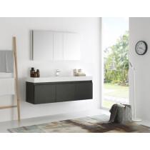 Fresca Mezzo (single) 59-Inch Black Modern Wall-Mount Bathroom Vanity Set