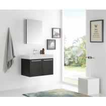 Fresca Vista (single) 29.5-Inch Black Modern Wall-Mount Bathroom Vanity Set