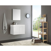Fresca Vista (single) 29.5-Inch White Modern Wall-Mount Bathroom Vanity Set