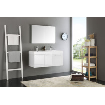Fresca Vista (double) 47.3-Inch White Modern Wall-Mount Bathroom Vanity Set