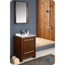 Fresca Allier (single) 23.5-Inch Wenge Brown Modern Bathroom Vanity Set