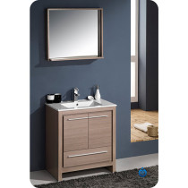 Fresca Allier (single) 29.5-Inch Gray Oak Modern Bathroom Vanity Set