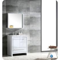 Fresca Allier (single) 29.5-Inch White Modern Bathroom Vanity Set
