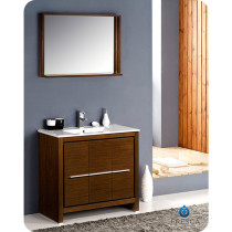 Fresca Allier (single) 35.38-Inch Wenge Brown Modern Bathroom Vanity Set