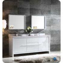 Fresca Allier (double) 72-Inch White Modern Bathroom Vanity Set