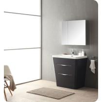 Fresca Milano (single) 31.5-Inch Chestnut Modern Bathroom Vanity Set