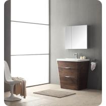 Fresca Milano (single) 31.5-Inch Rosewood Modern Bathroom Vanity Set