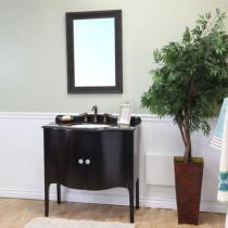 Hayden (single) 37-Inch Bathroom vanity With Black or White Top