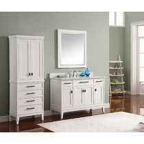 Avanity Madison (single) 49-Inch White Vanity Cabinet & Optional Countertops