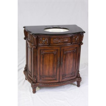 Manchester (single) 36-Inch Traditional Bath Vanity With Marble Top