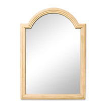 Hardware Resources Compton (single) 26-Inch Buttercream Traditional Bathroom Mirror