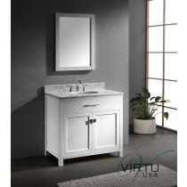 Virtu USA Caroline (single) 36.8-Inch White Transitional Bathroom Vanity Set