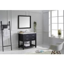Virtu USA Caroline Estate (single) 36.8-Inch Espresso Transitional Bathroom Vanity Set