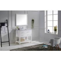 Virtu USA Caroline Estate (single) 36.8-Inch White Transitional Bathroom Vanity Set
