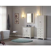 Avanity Thompson (single) 31-Inch French White Vanity Cabinet & Optional Countertops