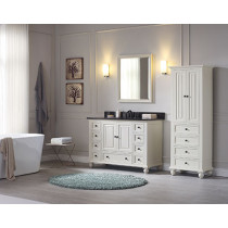 Avanity Thompson (single) 49-Inch French White Vanity Cabinet & Optional Countertops