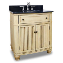Hardware Resources Compton (single) 32-Inch Buttercream Transitional Bathroom Vanity