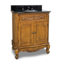Hardware Resources Clairemont (single) 30.5-Inch Caramel Traditional Bathroom Vanity