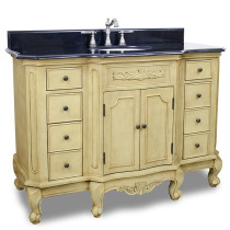 Hardware Resources Clairemont (single) 50.25-Inch Buttercream Traditional Bathroom Vanity
