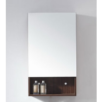 Navi (single) 17.8-Inch Brown Modern Mirror & Medicine Cabinet