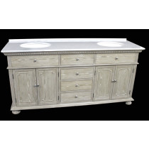 Holbrook (double) 72-Inch Whitewash Transitional Bathroom Vanity