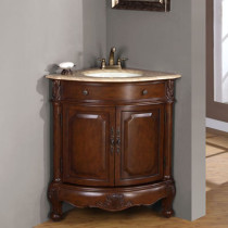 Cornerstone (single) 32-Inch Corner Bathroom Vanity