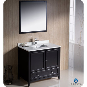 Fresca Oxford (single) 36-Inch Transitional Espresso Bathroom Vanity Set