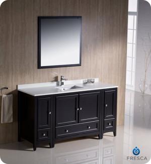 Fresca Oxford (single) 60-Inch Espresso Transitional Bathroom Vanity Set