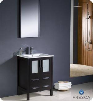 Fresca Torino (single) 24-Inch Espresso Modern Bathroom Vanity with Integrated Sink