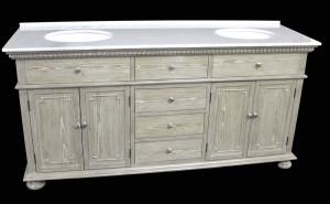Holbrook (double) 72-Inch Whitewash Transitional Bathroom Vanity