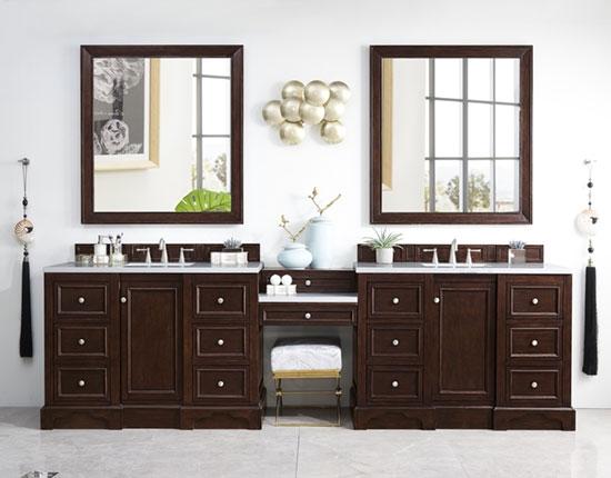Double Bathroom Vanities 90 Inches Wider