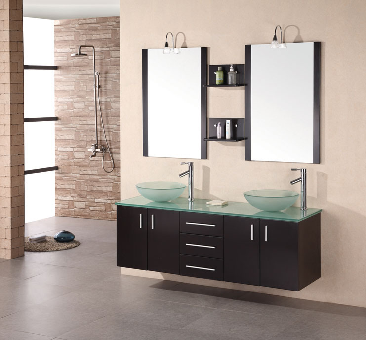 Double Sink Bathroom Cabinets.  Wall Mounted Double Sink Bathroom Vanities on Sale