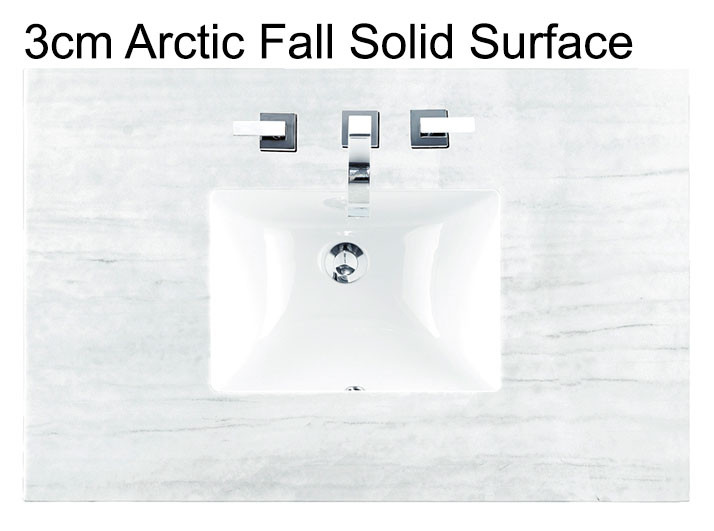 James Martin Palisades Single 36 Inch Transitional Bathroom Vanity Silver Gray