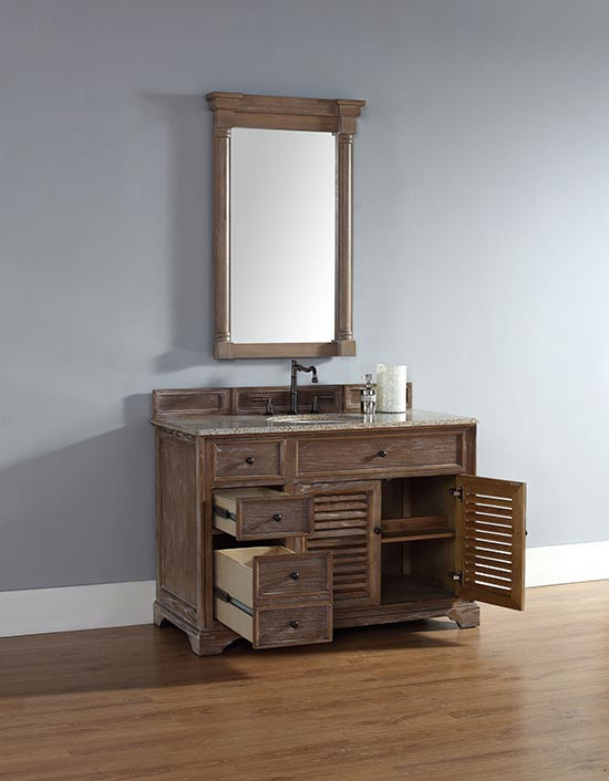 James Martin Savannah Single 48 Inch Transitional Bathroom Vanity Driftwood