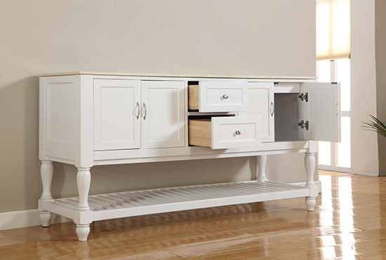 Vancouver Double 70 Inch Transitional Bathroom Vanity Pearl White