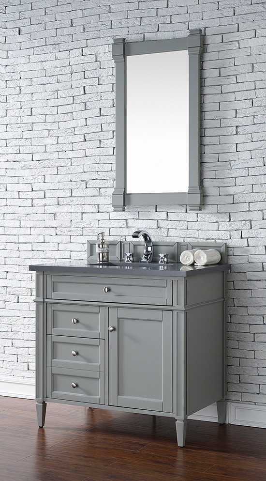 James Martin Brittany Single 36 Inch Transitional Bathroom Vanity Urban Gray