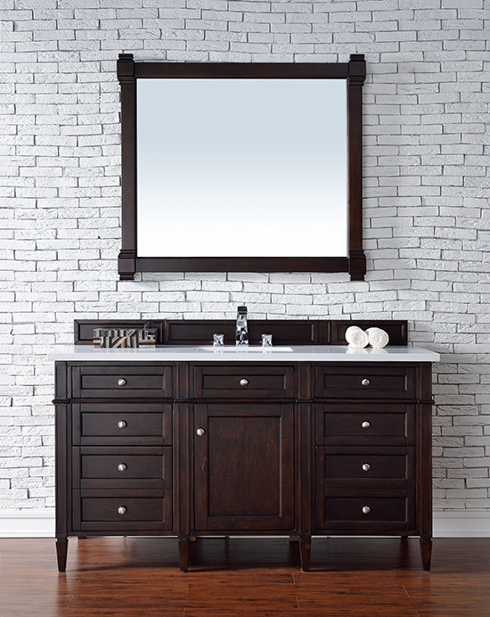 Gerrell 60 Single Bathroom Vanity Set Blue: James Martin Brittany (single) 60-Inch Transitional