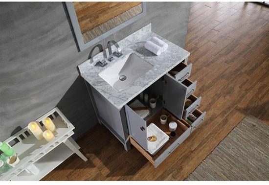 Ariel Cambridge (single) 37-Inch Modern Bathroom Vanity
