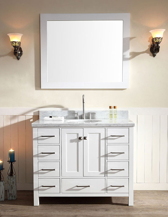 Ariel Cambridge Single 43 Inch Modern Bathroom Vanity