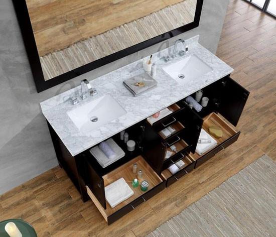 Ariel Cambridge (double) 73-Inch Modern Bathroom Vanity ...