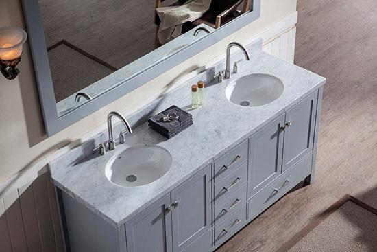 Ariel Cambridge Double 73 Inch Modern Bathroom Vanity