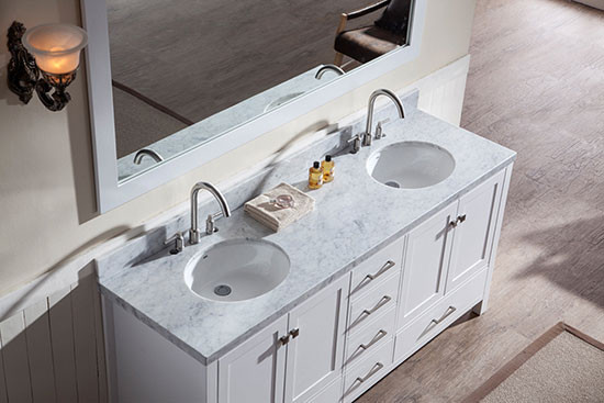 Ariel Cambridge Double 73 Inch Modern Bathroom Vanity