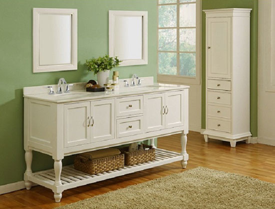 Vancouver Double 70 Inch Transitional Bathroom Vanity
